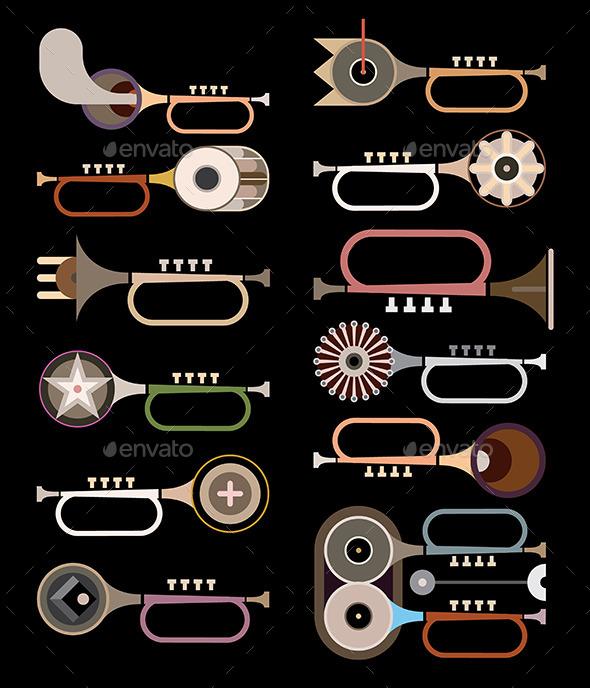 GraphicRiver Trumpets 9445439