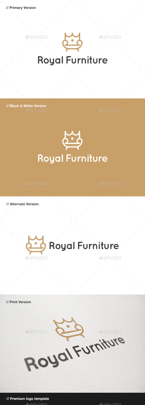 GraphicRiver Royal Furniture Logo 9445725