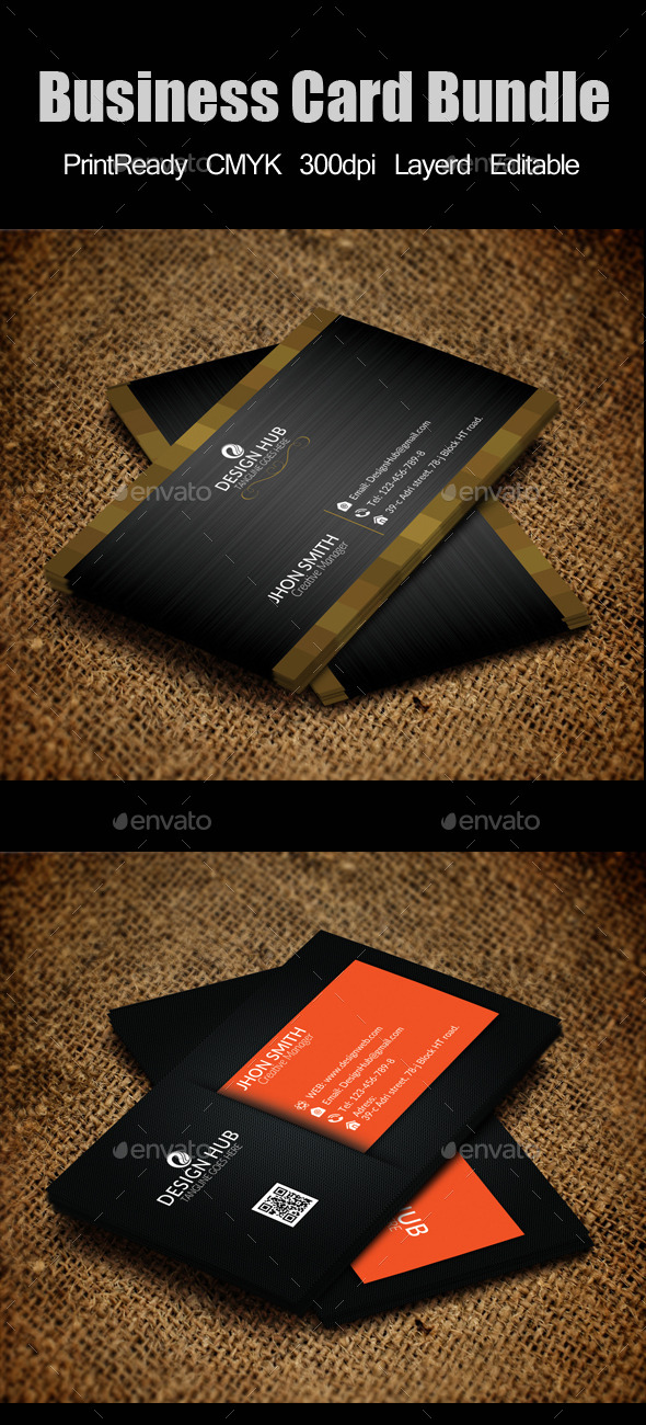 GraphicRiver Elegant Business Card Bundle 9445773