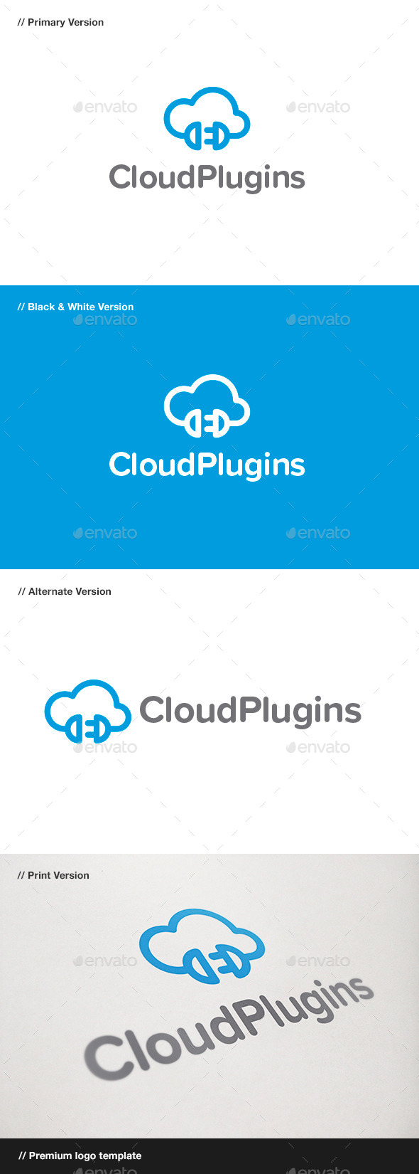 GraphicRiver Cloud Plugins Logo 9445774