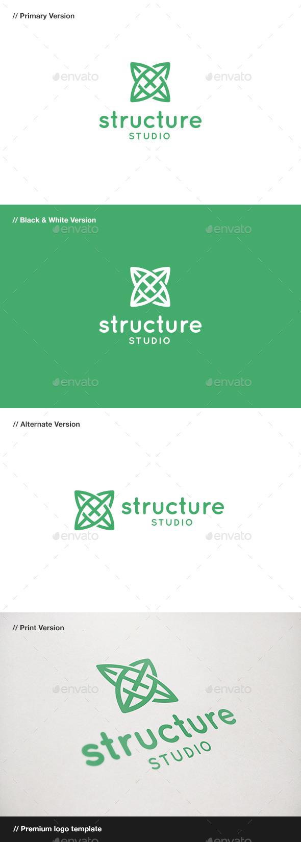 GraphicRiver Structure Symbol Logo 9445788