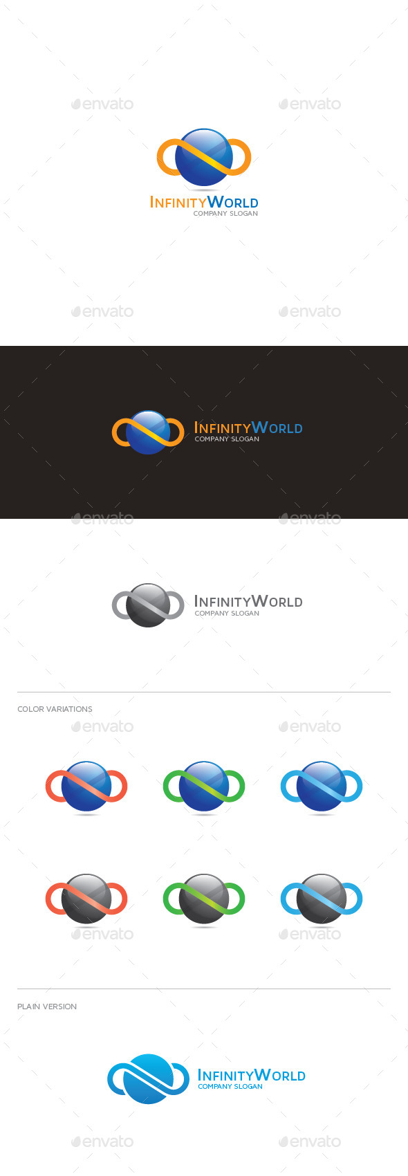 GraphicRiver Infinity World Logo 9445790