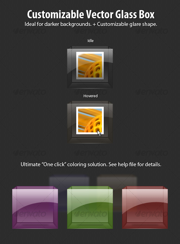 GraphicRiver Customizable Vector Glass Box 120848