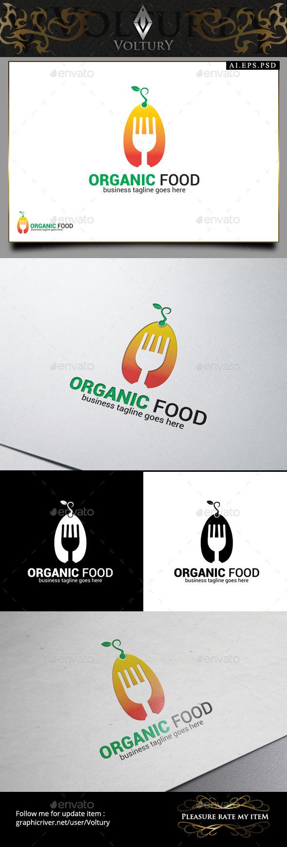 GraphicRiver Organic Food Logo 9445832
