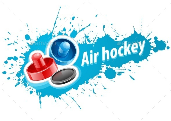 GraphicRiver Mallets and Puck For Air Hockey Game 9445868