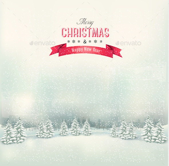 GraphicRiver Winter Background 9445946