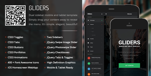 ThemeForest Gliders Mobile & Tablet Responsive Template 9445949