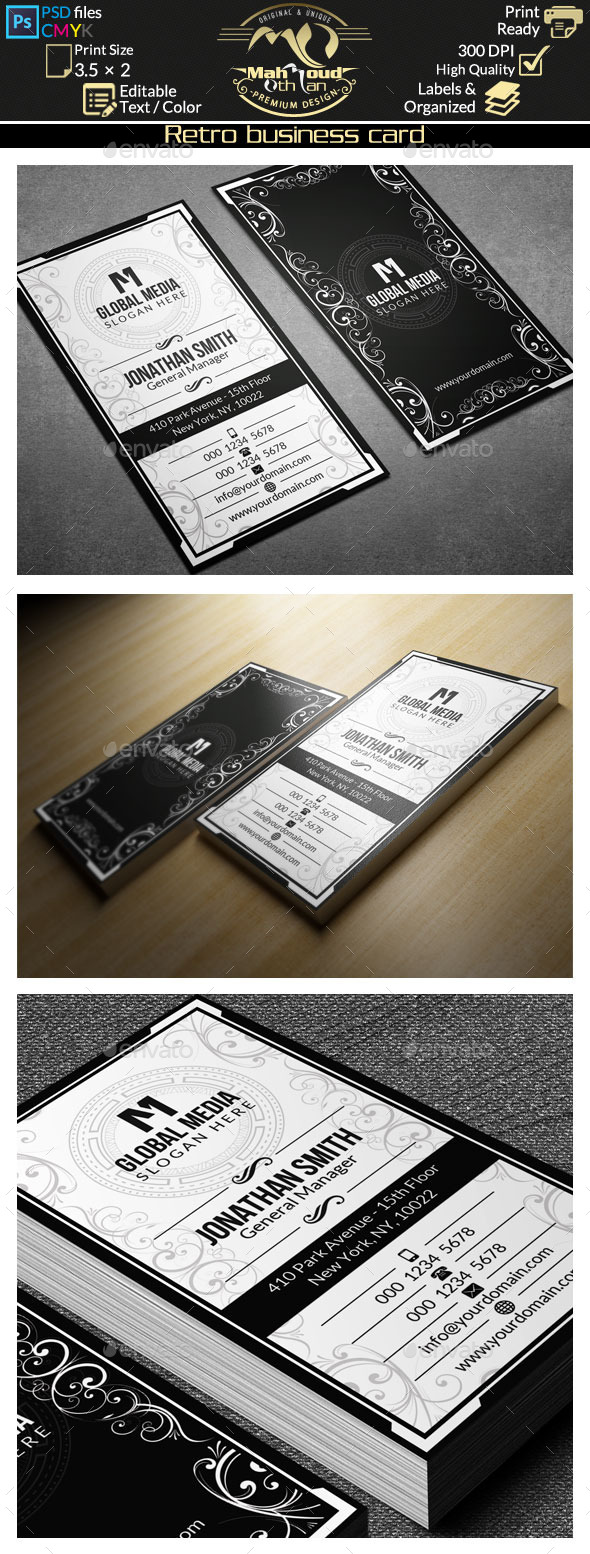 GraphicRiver Retro Business Card 59 9445953