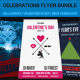 Celebrations Flyer Bundle - GraphicRiver Item for Sale