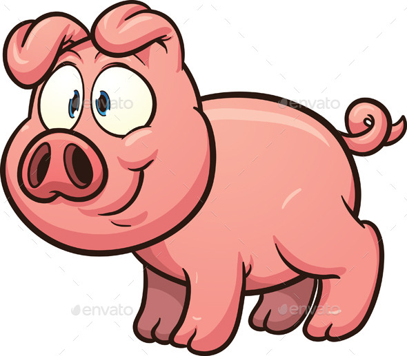 GraphicRiver Cartoon Pig 9446102