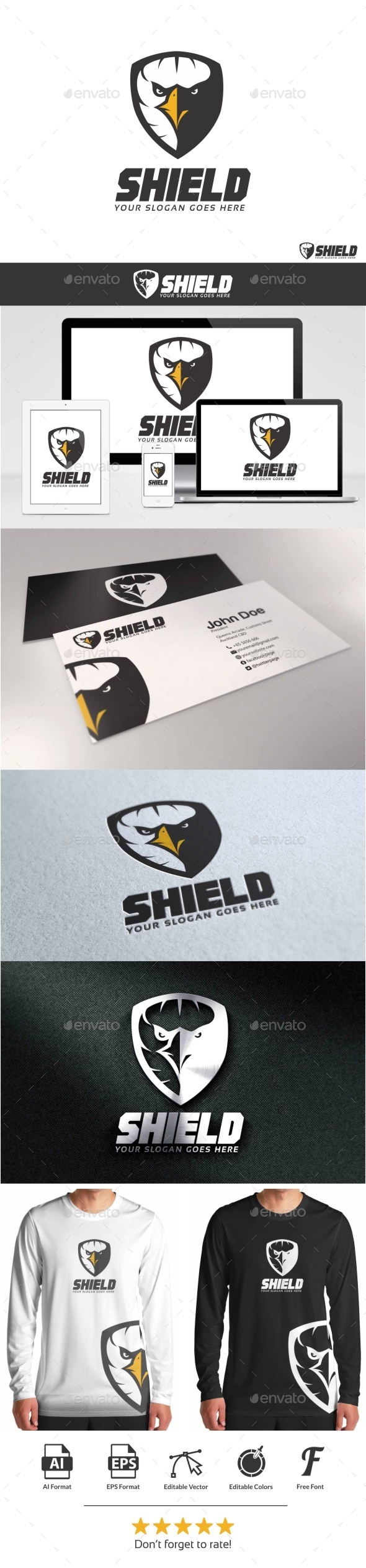 GraphicRiver Eagle Shield Logo 9446376