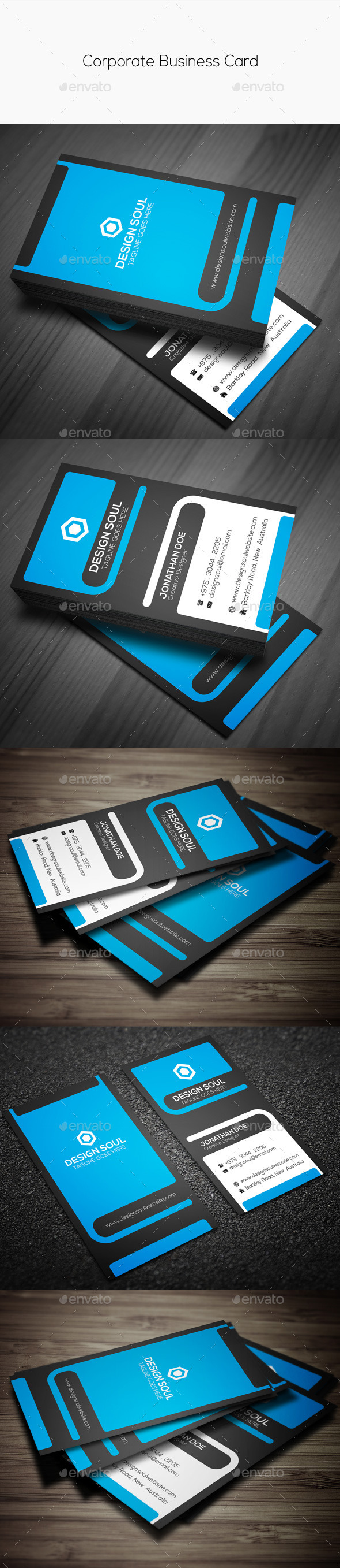 GraphicRiver Corporate Business Card 9447157