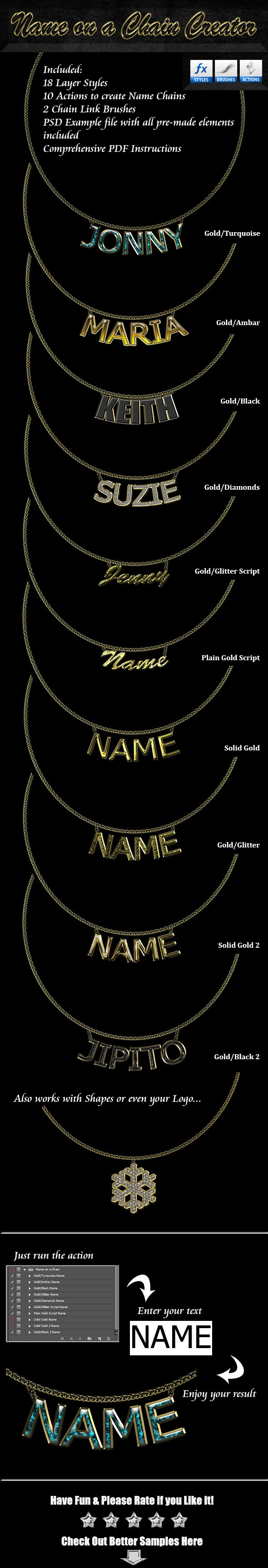 GraphicRiver Name on a Chain Creator 9447267