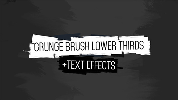Grunge Brush Lower Third