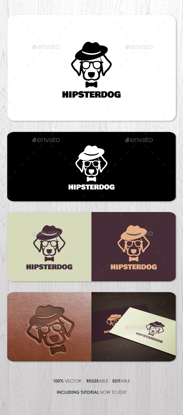 GraphicRiver Hipster Dog Logo 9447316