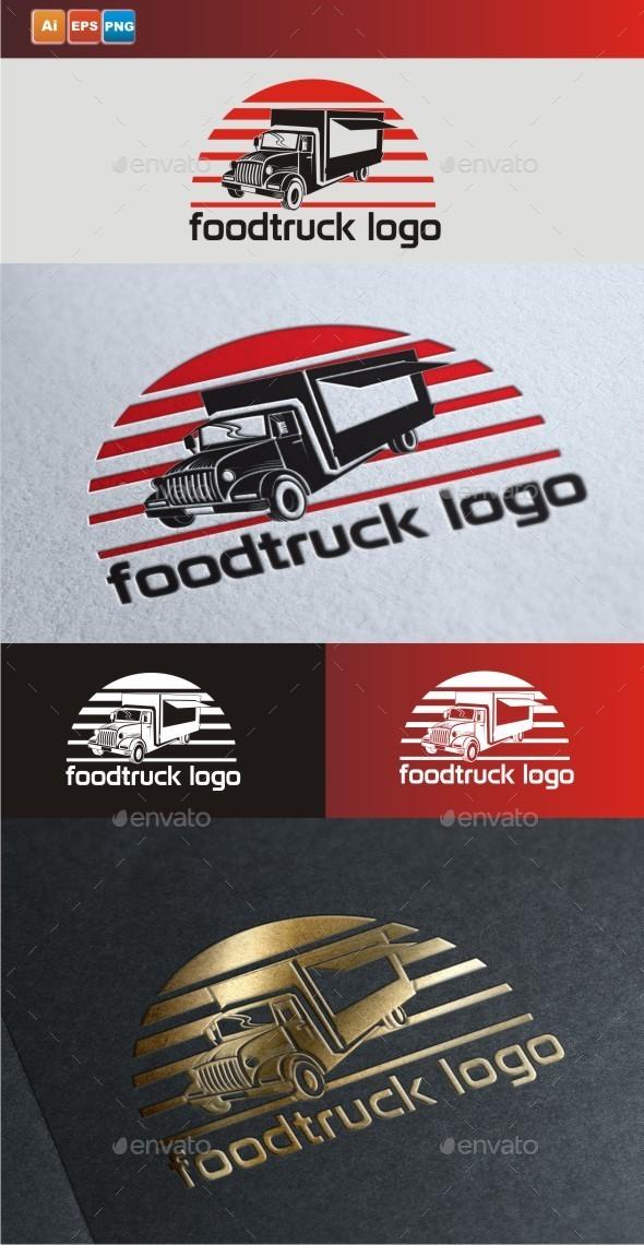 GraphicRiver Food Truck Logo 9447384