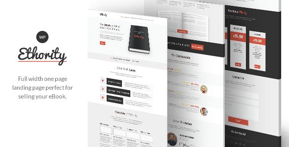 Ethority - One Page eBook Landing - Marketing Corporate