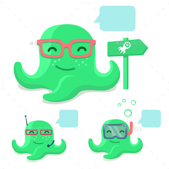 GraphicRiver Smiling Octopus 9447534