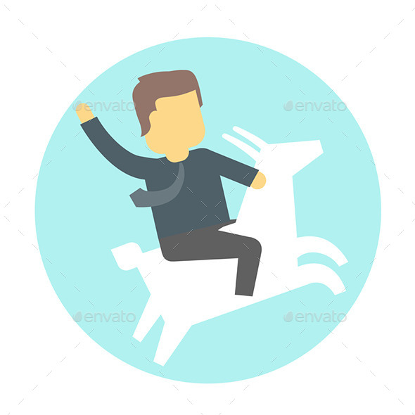 GraphicRiver Man on Goat 9447535