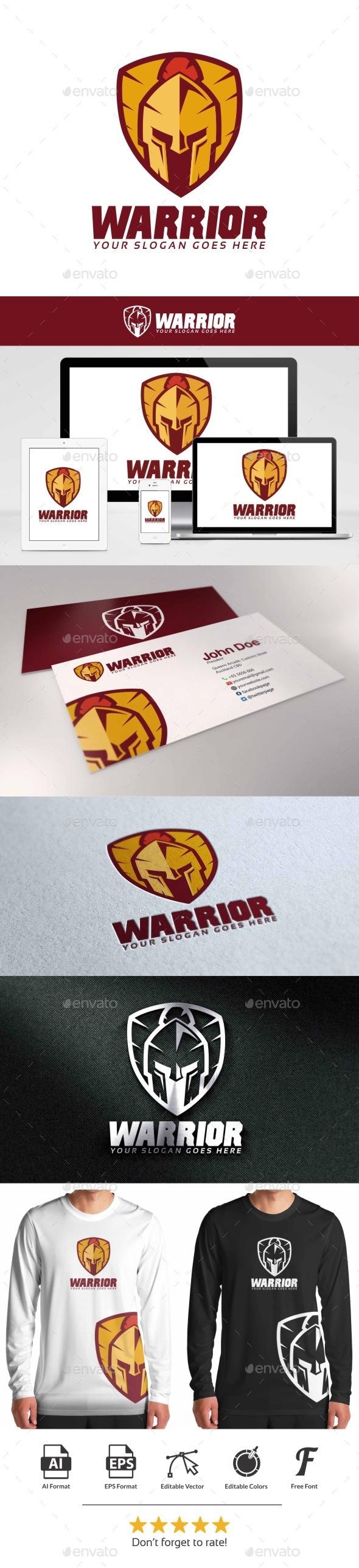 GraphicRiver Warrior Shield Logo 9447543