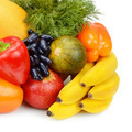 set of fruits and vegetables isolated on white background - PhotoDune Item for Sale
