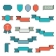Ribbons Flat Style - GraphicRiver Item for Sale