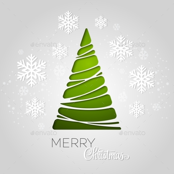 GraphicRiver Merry Christmas Tree Greeting Card 9447792