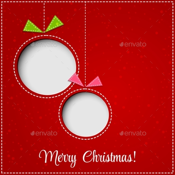GraphicRiver Merry Christmas Greeting Card with Bauble 9447793