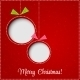Merry Christmas Greeting Card with Bauble - GraphicRiver Item for Sale