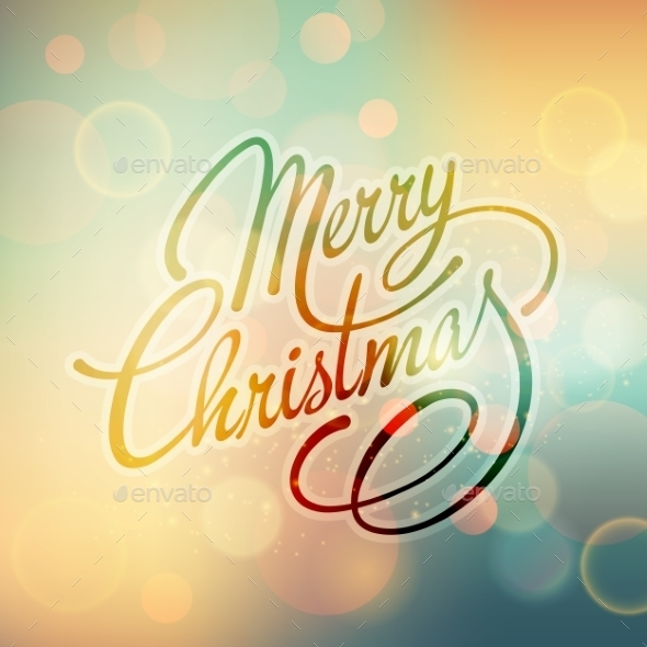 GraphicRiver Merry Christmas Vector Lettering 9447810