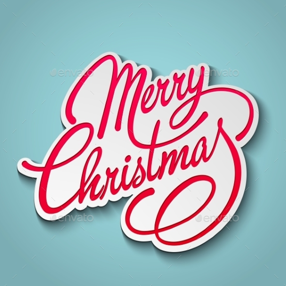 GraphicRiver Merry Christmas Vector Lettering 9447826