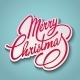 Merry Christmas Vector Lettering - GraphicRiver Item for Sale