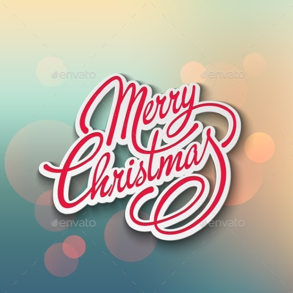 GraphicRiver Merry Christmas Vector Lettering 9447837