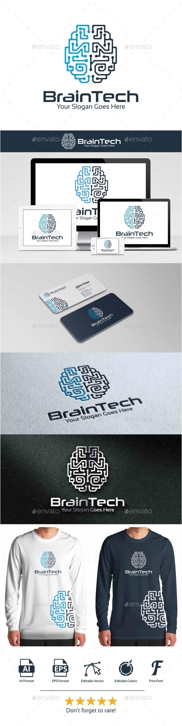 GraphicRiver BrainTech Logo 9448087