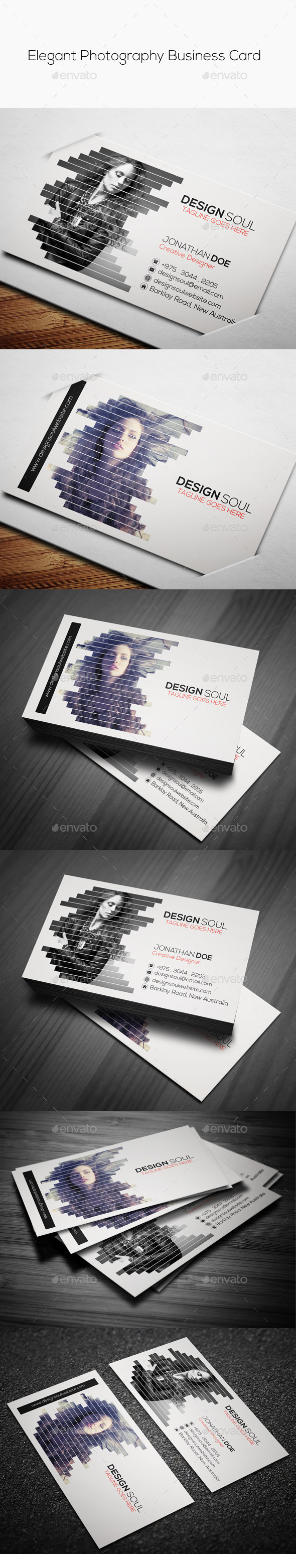 GraphicRiver Elegant Photography Business Card 9448294
