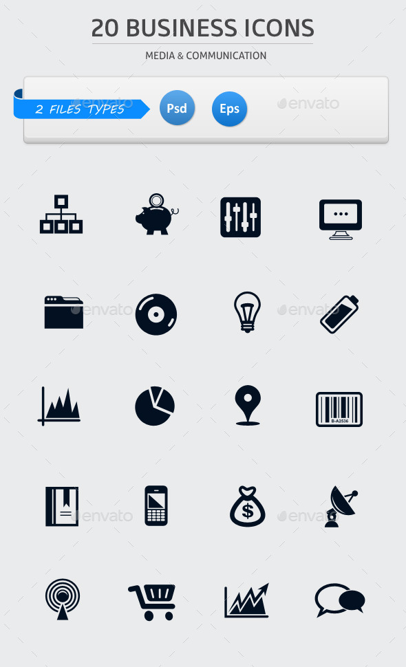 GraphicRiver Pack of 20 Business Icons 9448818