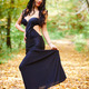 Young lady in black dress outdoor - PhotoDune Item for Sale