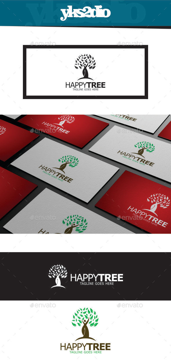 GraphicRiver Happy Tree Logo 9449099