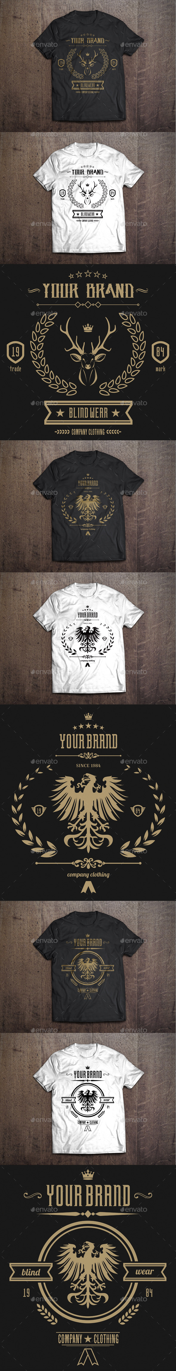 GraphicRiver 3 T-Shirt Template #1 9449119