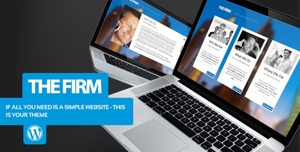 The Firm - Simple Company WordPress Theme