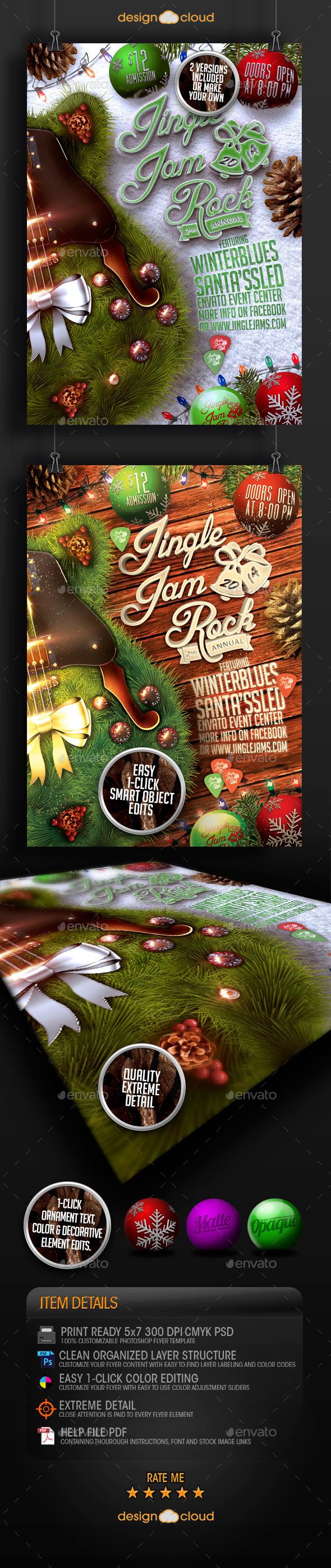 GraphicRiver Jingle Jam Rock Christmas Flyer Template 9449247