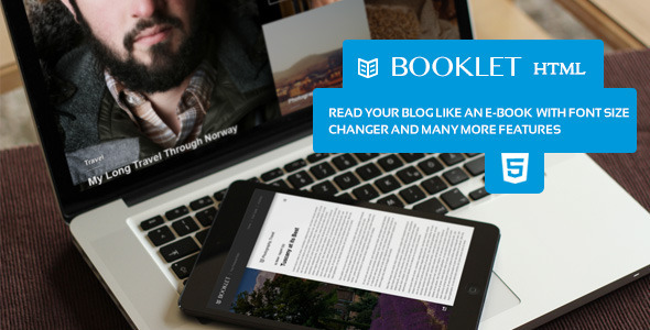 Booklet - Personal Blogging Html Theme