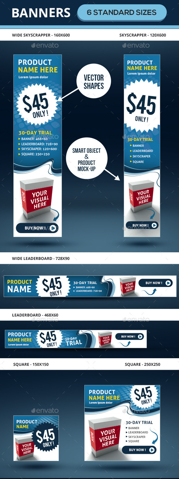 GraphicRiver Marketing Ad Banners In 6 Sizes 9449270