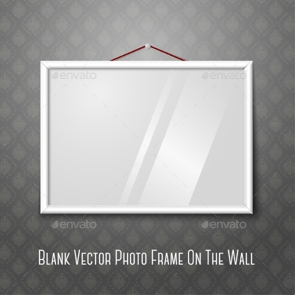 GraphicRiver Blank Photo Frame on Wall 9449422