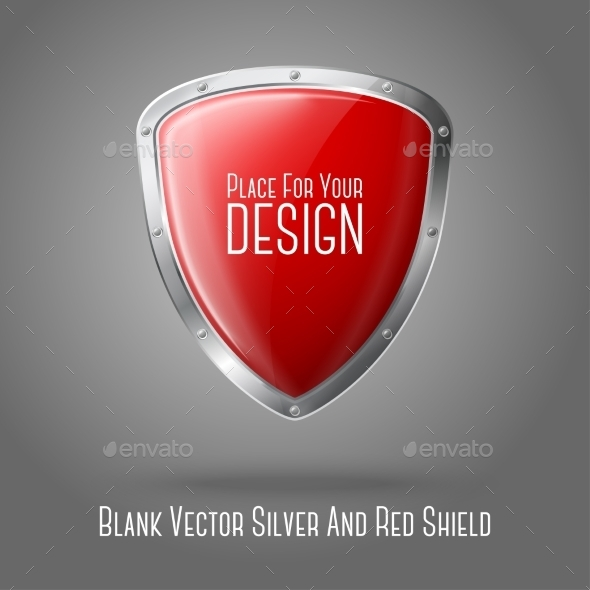 GraphicRiver Silver and Red Shield 9449454