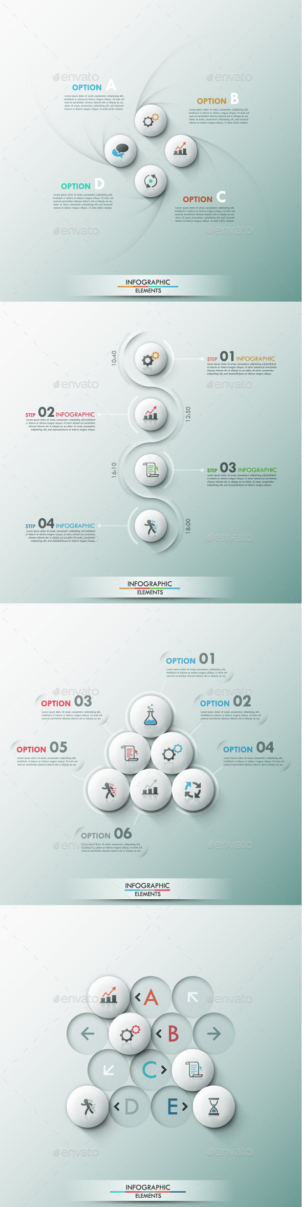 GraphicRiver Set of 4 Modern Infographic Templates 9449510