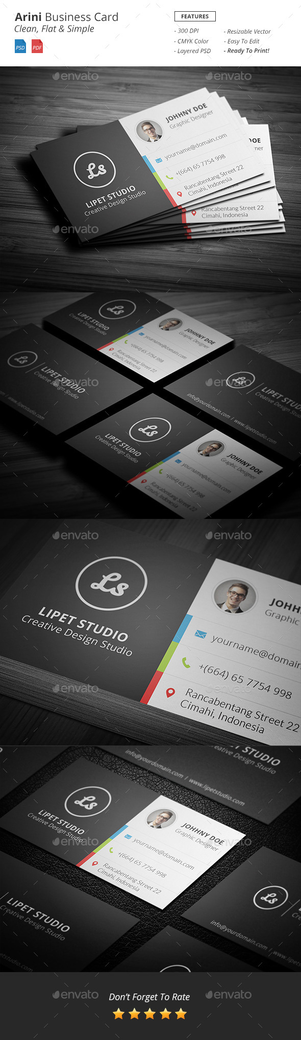 GraphicRiver Arini Clean Business Card Template 9449528