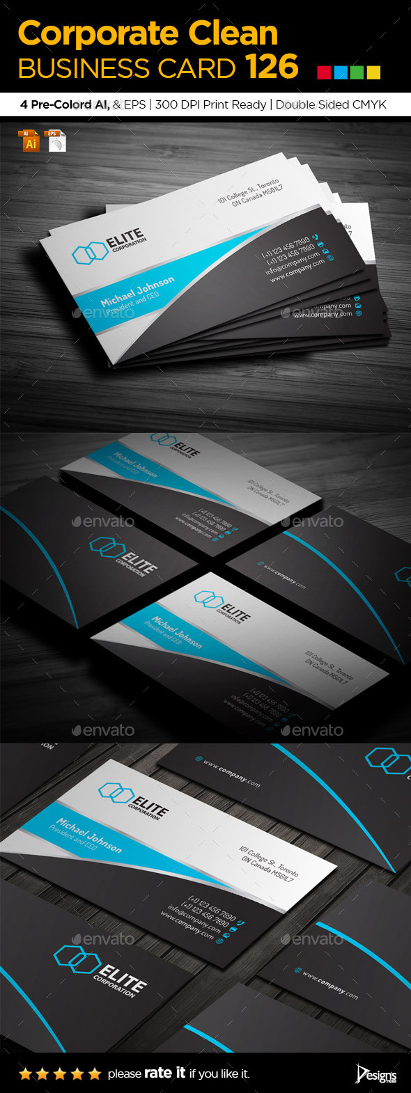 GraphicRiver Simple and Clean Business Card 126 9449706