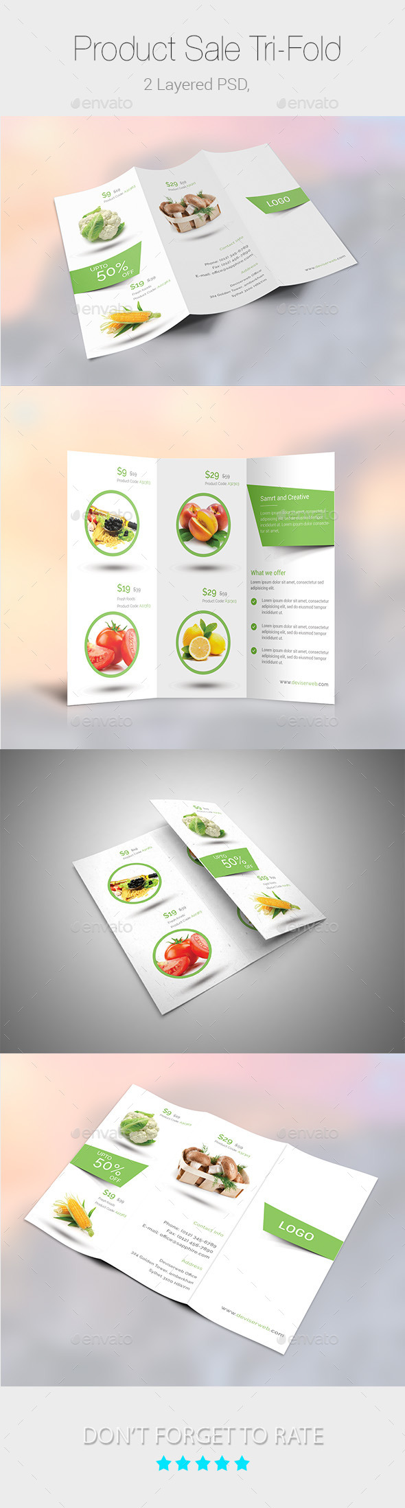 GraphicRiver Product Sale Promotion Tri-Fold Templates 9450212