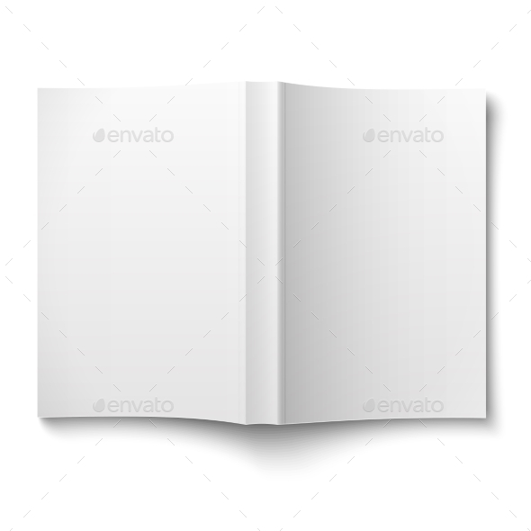 GraphicRiver Blank Softcover Book Template Spread 9450509